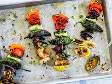Grillspyd med grønnsaker