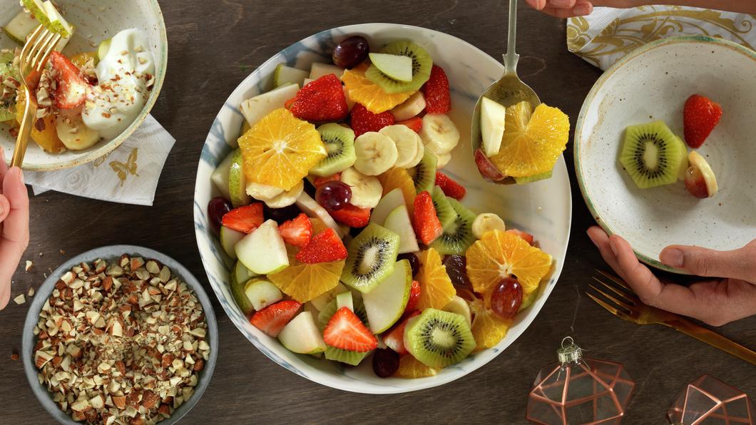 Fruktsalat med nøtter