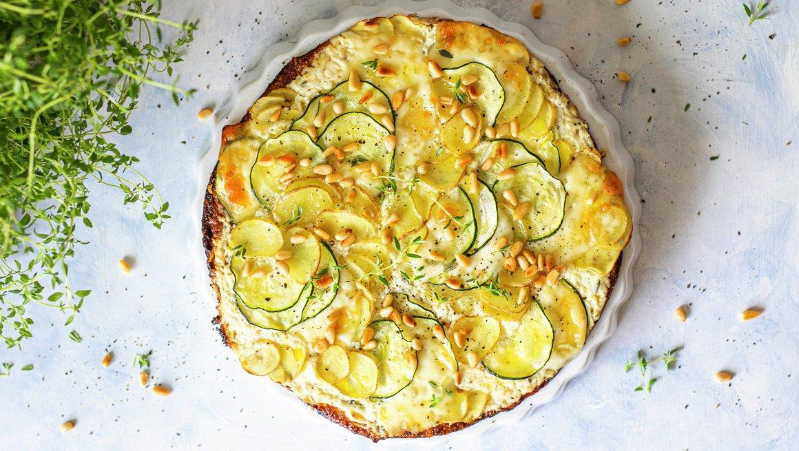 Vegetarisk blomkålpizza