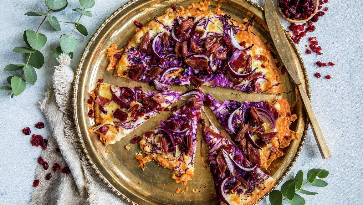 Pizza med pinnekjøtt