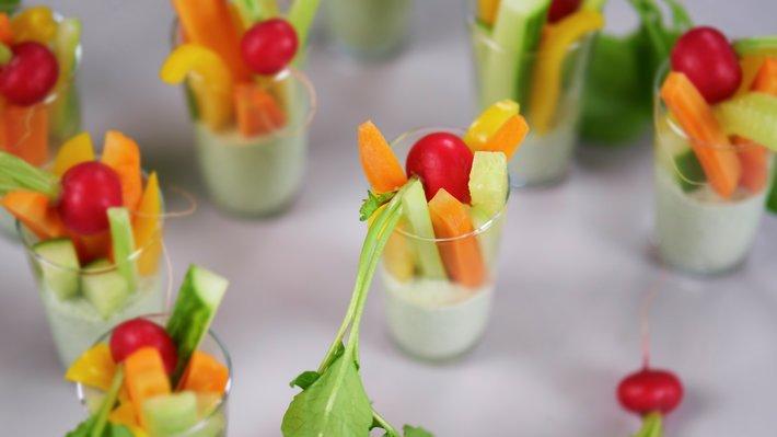 Sunn snacks - grønnsaker med dipp