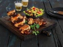 Brasilianske grillspyd med kylling