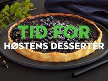 Plukk med deg frukt og bær til høstens herlige desserter.