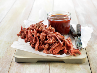 Pulled pork med bbq-saus