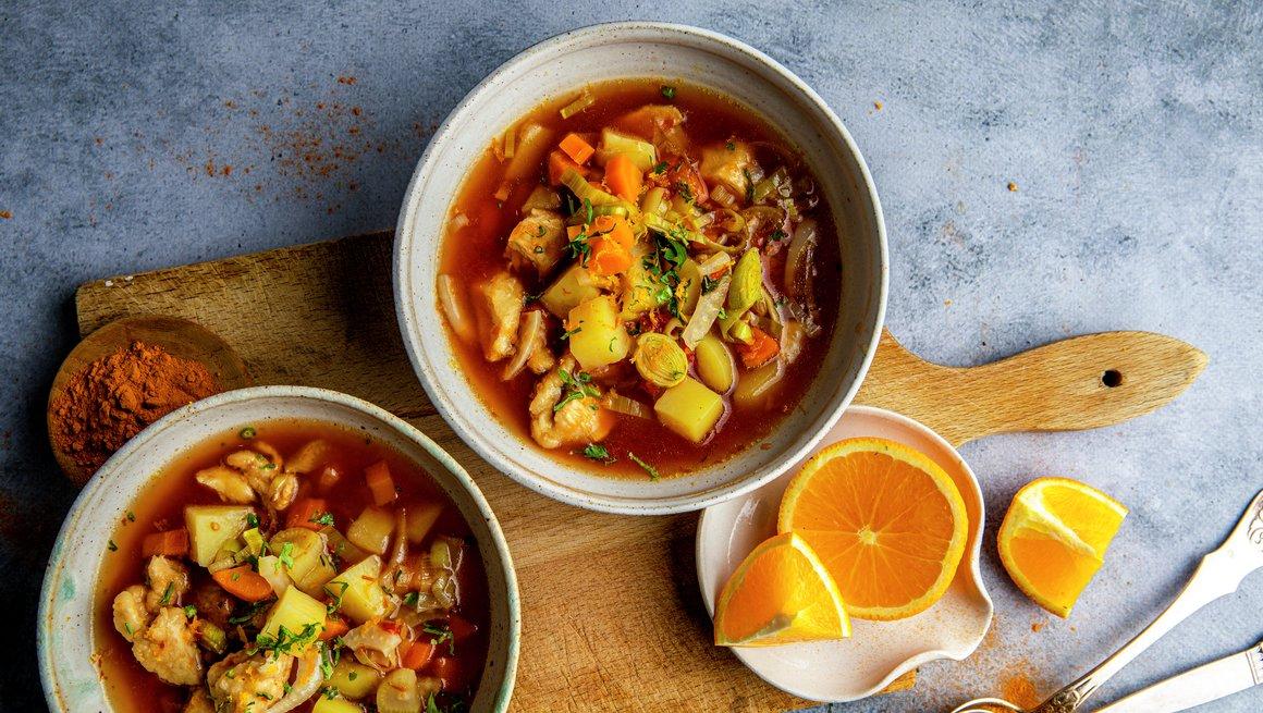 Fransk kyllingsuppe