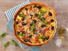 Pai med tomater og brie
