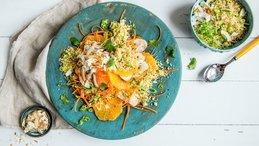 Couscoussalat med kylling og appelsin