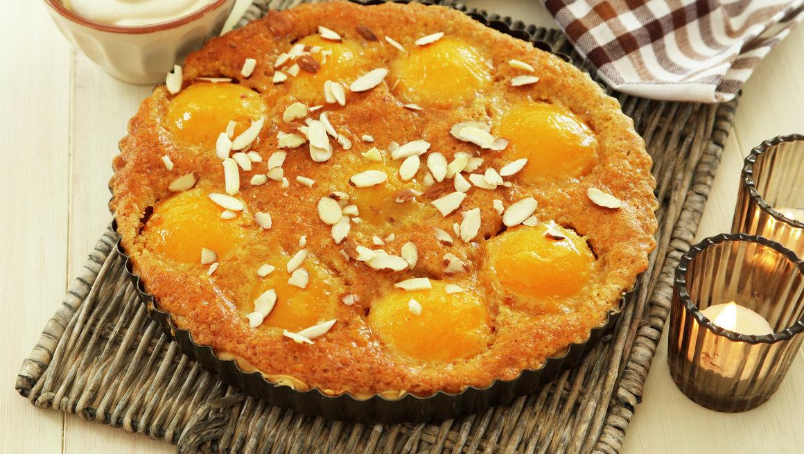 Ferskenterte med mandelkrem