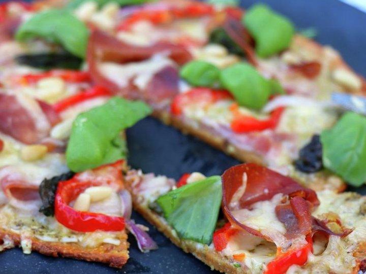 Søtpotet pizza