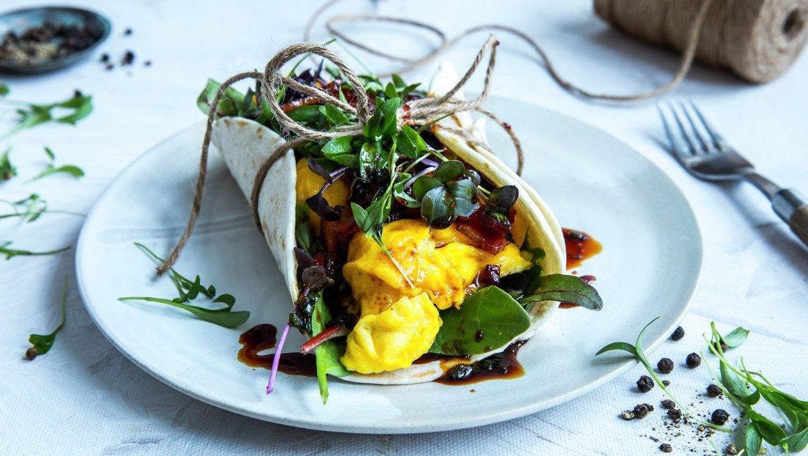 Wrap med eggerøre - alternativ 2