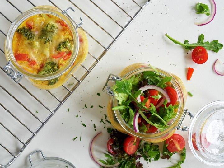 Omelett i glass