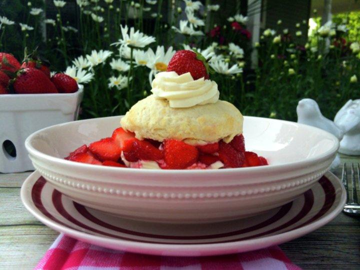 Jordbær Shortcake* Med Ostekakekrem