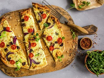 Grillet vegetarpizza