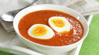 Tomatsuppe med egg - NY