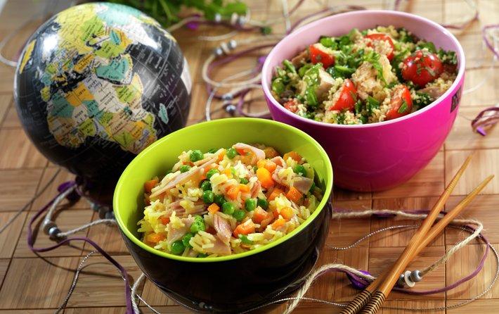 Kylling og couscoussalat og stekt ris_2