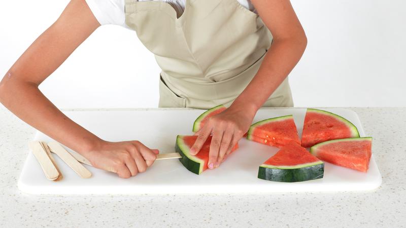 Vannmelon på pinne
