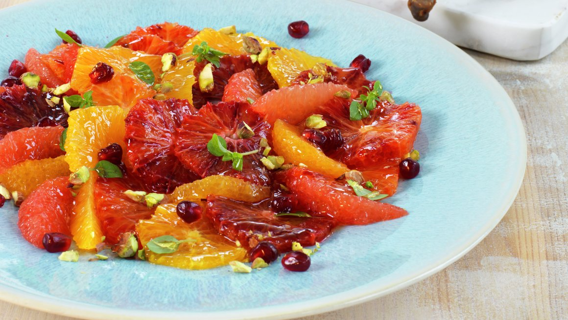 Andeconfit med sitrussalat