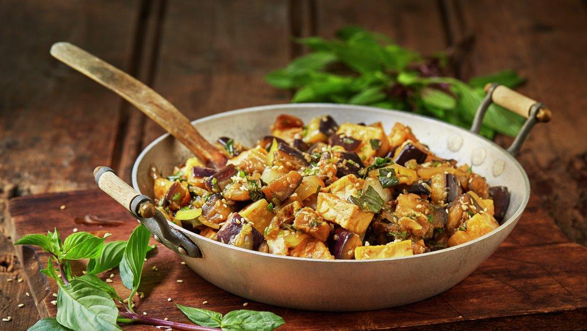 Tofu og aubergine