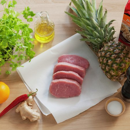 Skinkebiff med appelsin og ananas 2
