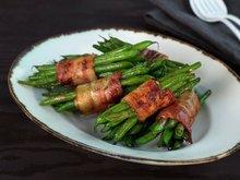Aspargesbønner med bacon