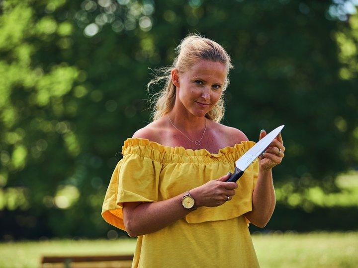 Anette Fjelleng Hansen på grilling i parken