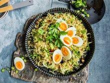 Bulgursalat med egg