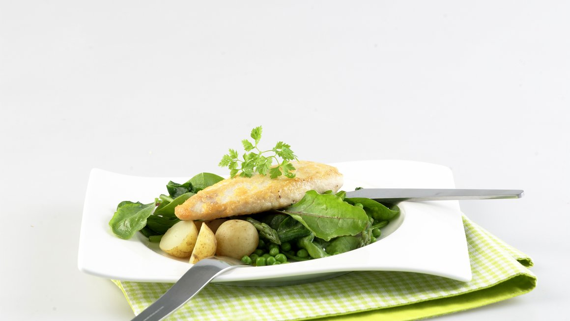 Parmesanpanert kylling med ferskpotetsalat