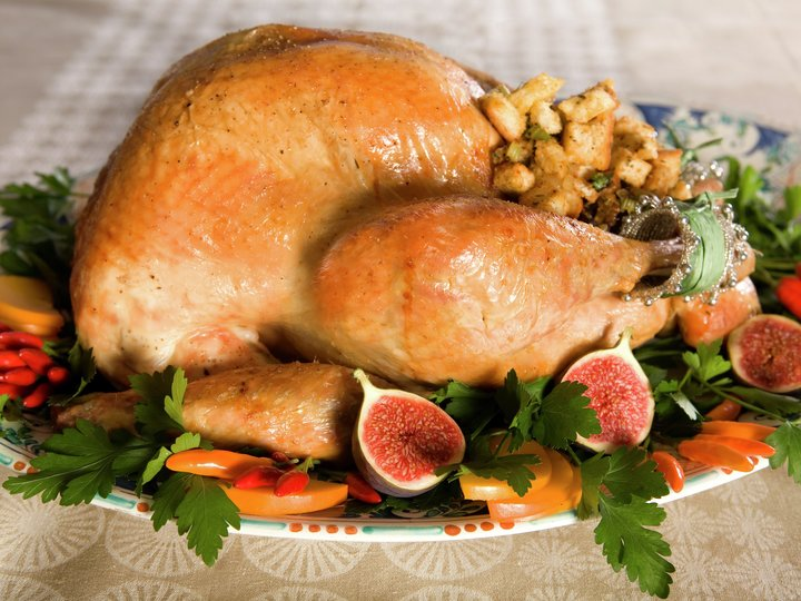 Thanksgiving-kalkun med løk- og selleristuffing