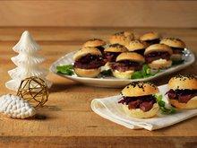 Miniburger med røkt reinsdyrfilet