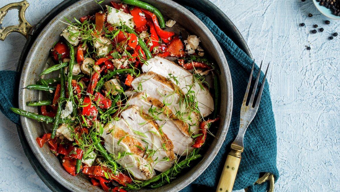 Kyllingfilet med bønnesalat