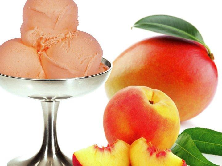 Gelati med fersken/fersken&Mango