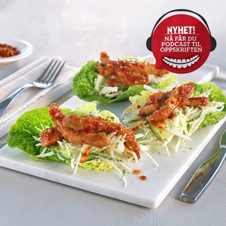 Strimlet svinekjøtt med asiatisk smak