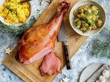 Røkt lammelår med fransk potetsalat